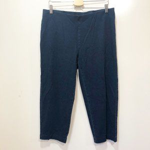 J JILL M Legging Pants Crop Blue Stretch Skinny